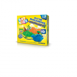 Art Kids-Kit de massinhas Dinossauros 3D