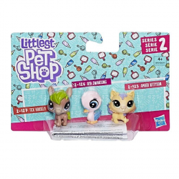 Figura Littlest Pet Shop Básica Com 3